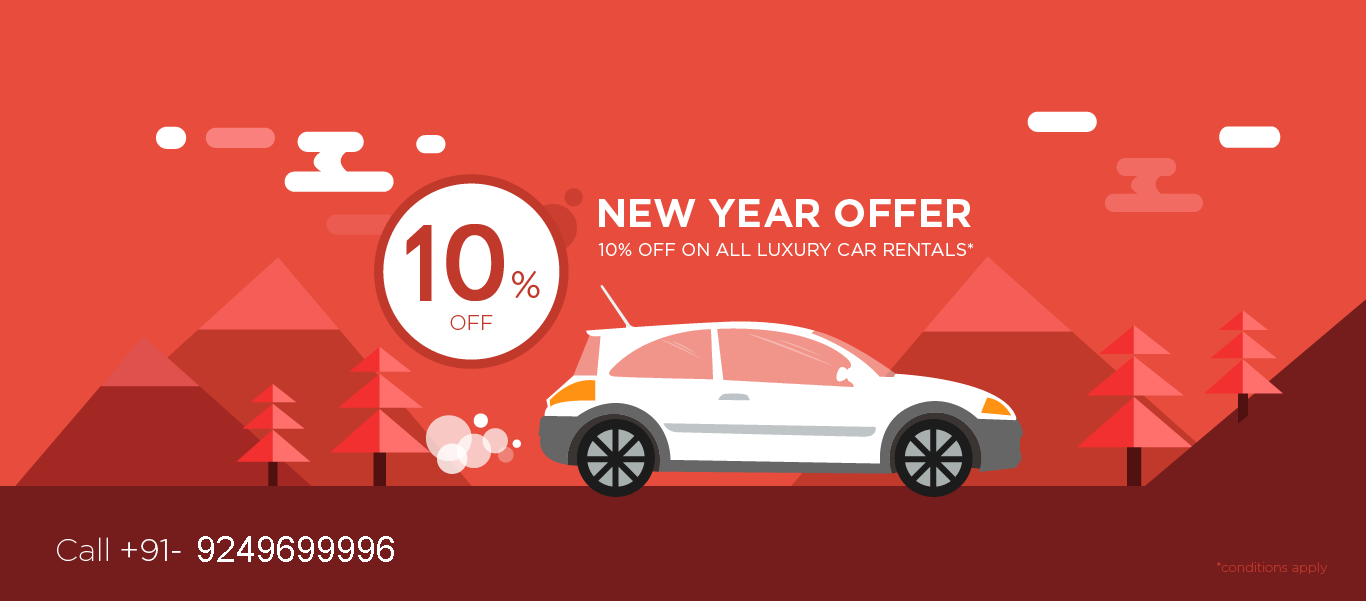 NEW YEAR OFFER, 10% OFF ON ALL LUXURY CAR RENTALS